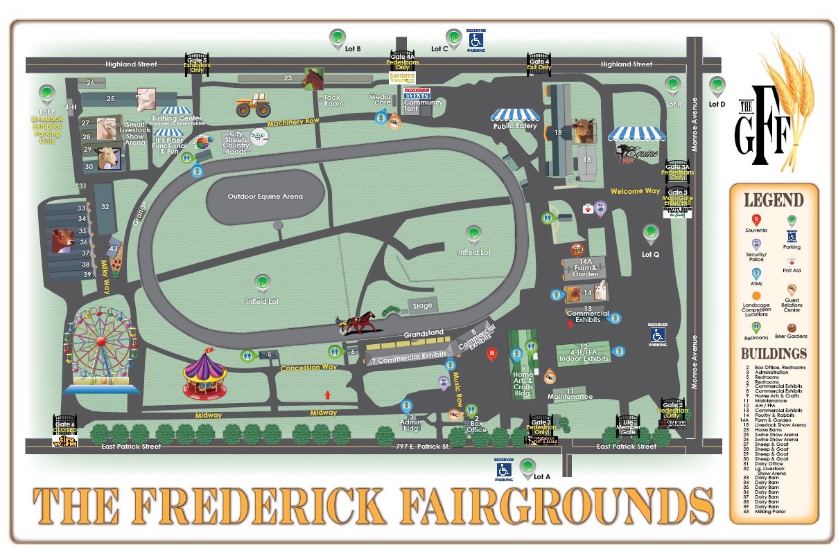Frederick Fairgrounds Map